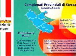 Campionati Provinciali 2014/2015